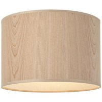 Lights Up! Cherry Wood Veneer Lamp Shade 14x14x10 (Spider)