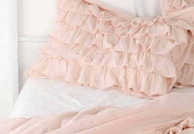 Pale Pink Bedding