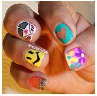 Hippie nail art | Nails | Pinterest