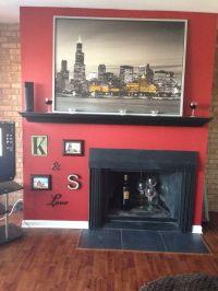 Off center fireplace decorations | Fireplace decor | Pinterest