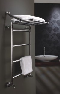 Heated towel rack.