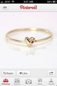 Simple gold promise ring | My Wedding | Pinterest