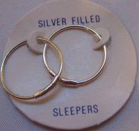H13 Sleepers Earrings 1/20 Sterling Silver Filled