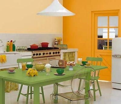 orange and green kitchen decor Orange and green kitchen | Dream Home {decor} | Pinterest