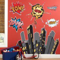 superhero wall decals 2017 - Grasscloth Wallpaper