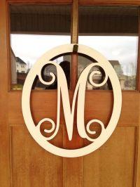 monogrammed metal wreath, monogrammed wreath, monogrammed