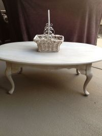 Chalk painted antique coffee table. | Crafts | Pinterest