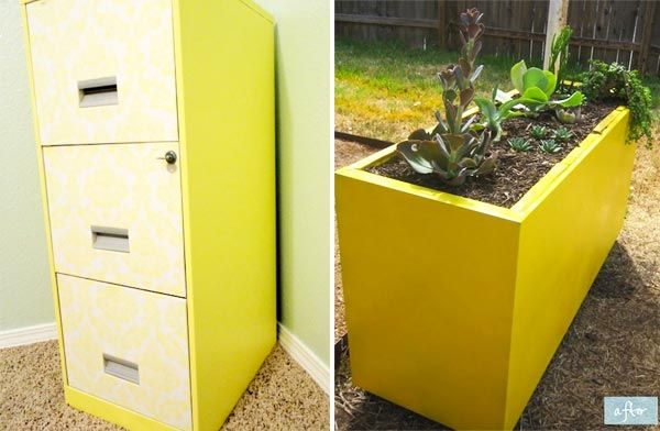 Filing cabinets repurposed  Creative Gardening  Pinterest