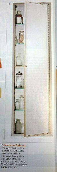 Long medicine cabinet w/mirror $995
