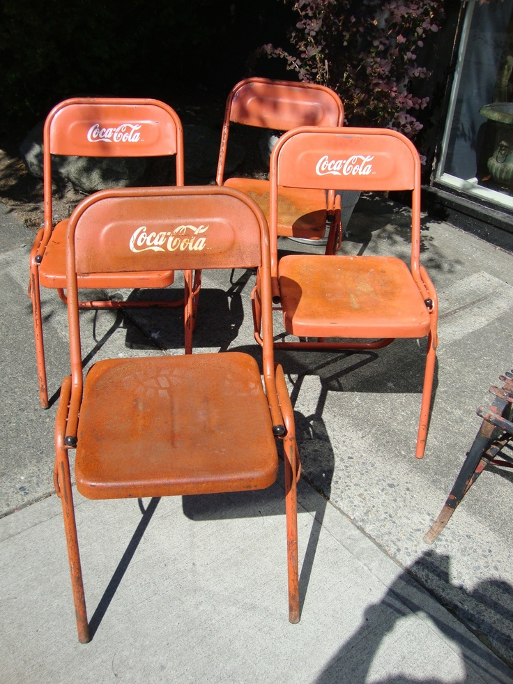 Antique Coca cola Chairs  Coca Cola  Pinterest