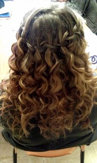 Curly hair, waterfall braid!:) | Hair | Pinterest