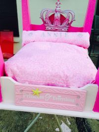 Princess bling dog bed