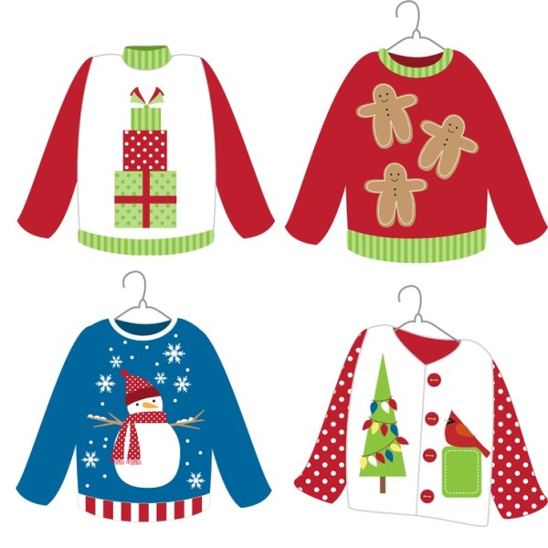 ugly sweater party clip art - long