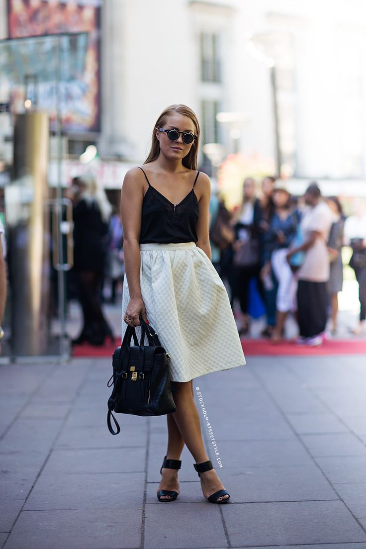 great textured skirt Stockholm Streetstyle