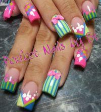 Acrylic nails | Easter nail design | Pinterest