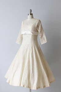 Vintage 1950s Tea Length Wedding Dress | hitched | Pinterest