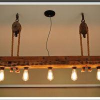Reclaimed wood light fixture | Unique lighting | Pinterest