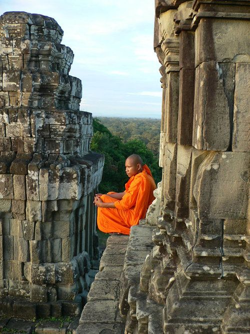 Angkor Wat - monks have been watching sunset like this for more than a thousand years from the time when Cambodia covered a much larger territory than now.