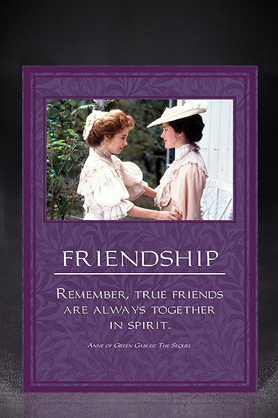 Anne Green Gables Friendship Quotes