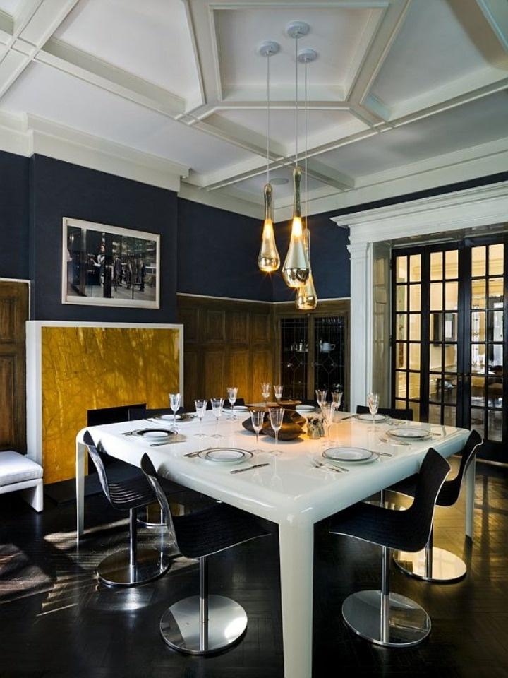 Navy Blue And Gold Dining Room Decor Novocom Top
