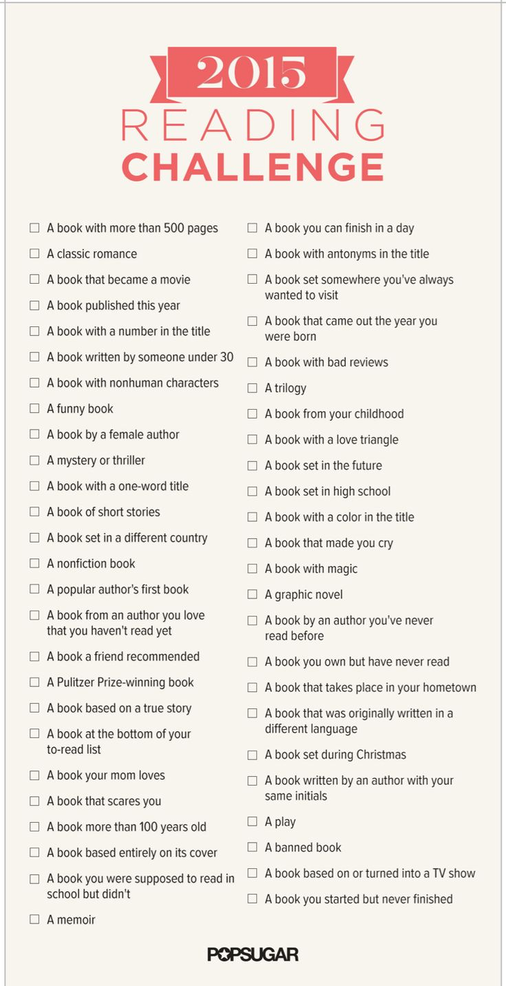 2015 Reading Challenge. I've pretty much done this on my own already, and I'm counting some things I've had to read in school because I loved most books..but it's a great idea!