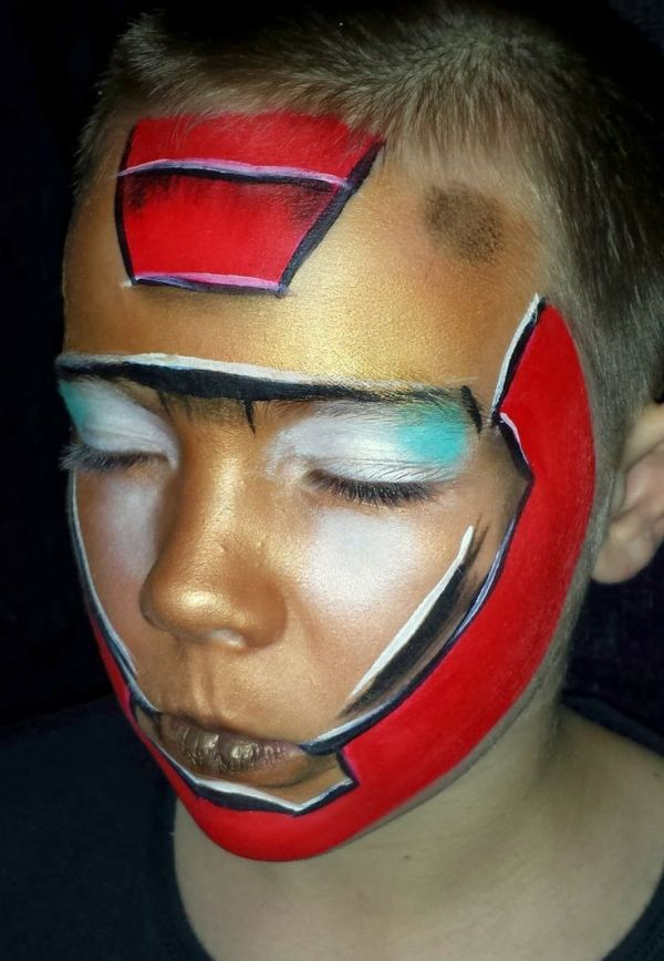 Face paint iron man awesome facepaint BOYS Pinterest