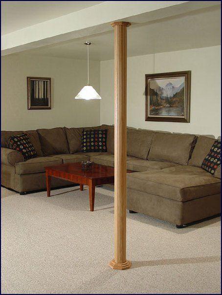 Basement pole covers.