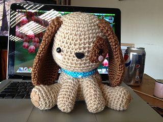 Crochet Puppy - ordered by Karen Brown