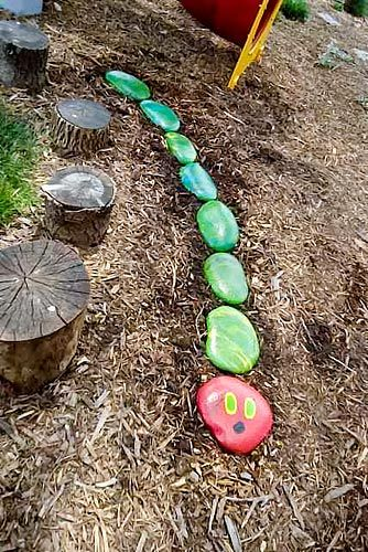 Very Hungry Caterpillar art project for butterfly garden