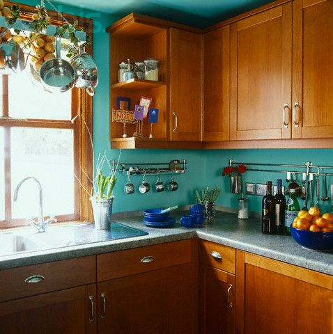 Turquoise Kitchen Walls Novocom Top