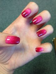 red ombre #nails creative nail