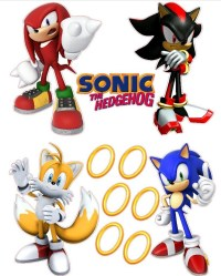 Sonic the Hedgehog Wall Decal | Aidens | Pinterest