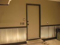 corrugated metal paneling | Garage/man cave | Pinterest