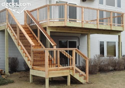 possible deck stairs layout  Green GrassBlue Skies  Pinterest