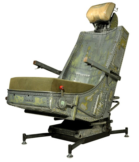 Recycled aircraft seat into office chair  Aircraft