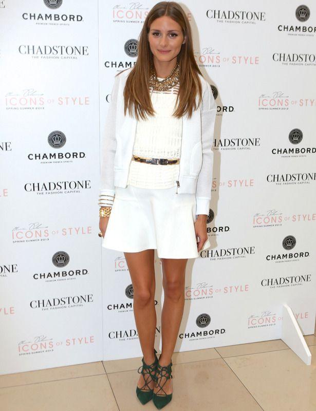 Olivia Palermo en total white look