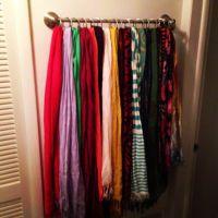 scarf holder | Get Organized | Pinterest