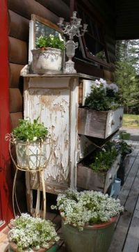Vintage Dresser Planter | Outdoor Decor | Pinterest
