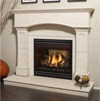 real looking gas fireplace | Small house fireplace | Pinterest