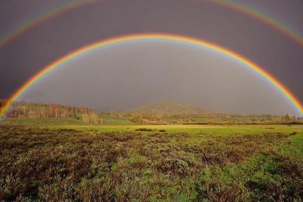 Как фотографировать радугу. Двойная радуга