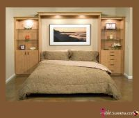 Awesome headboard/wall unit idea | For the Home | Pinterest