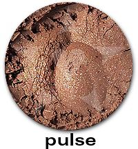 """Pulse"", from the Aromaleigh ""Pure Eyes Frost"" Eyeshadow Collection.    Pulse has a frost finish in a mid-tone warm coppered brown.    The ""Pure Eyes Frost"" collection is based on Aromaleigh v1's ""Pure Eyes Frost"" Collection, but with an expanded and improved color selection.    ""Pulse"" does not have any Aromaleigh v1 shades that it is similar to.    http://www.aromaleigh.com/pueynafrmiey.html"