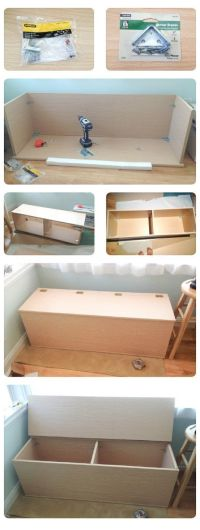 DIY+Storage+Bench | Craft Ideas | Pinterest