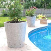 Large concrete planters | Hypertufa, Concrete, Cement ...