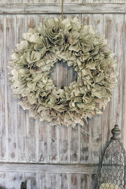 ruffly book page wreath great tutorial not a lot of difficulty happy at