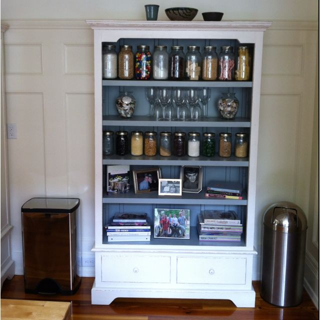 Great storage idea for no pantry