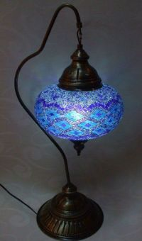Turkish mosaic table lamp | Boho Style | Pinterest
