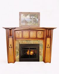 Arts & Crafts Style Fireplace Mantel   Fireplace ideas ...