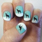 deer nail stickers with matt top