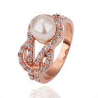 Rose gold pearl Ring | food! | Pinterest